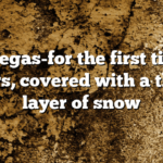 Las Vegas-for the first time in years, covered with a thick layer of snow